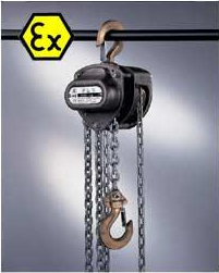 Manual chain hoist with ATEX protection