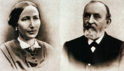 Portrait of founder and his wife