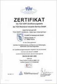 We applied it, and TÜV-Rhineland-Westphalia certified it.