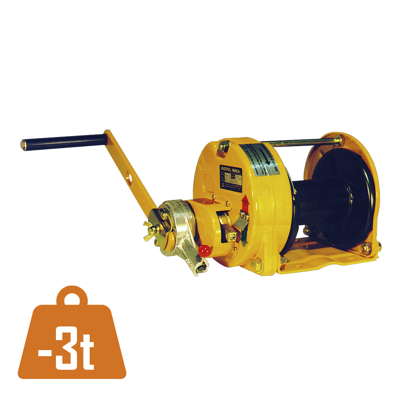 Manual rope winch MR/GM