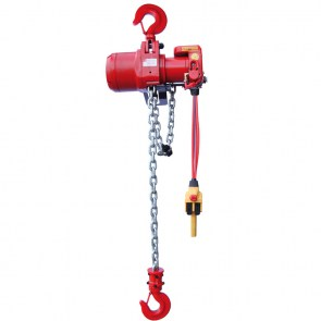 Pneumatic air chain hoist TMH with pendant control