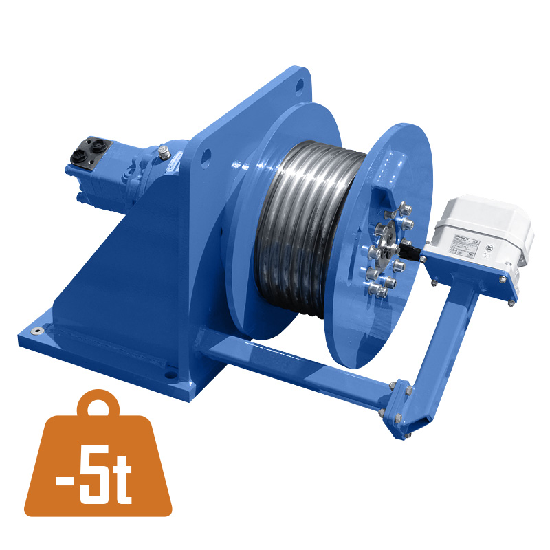 Hydraulic wormgear winch FD-H