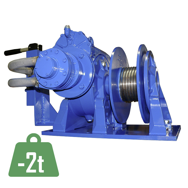 Pneumatic wormgear winch PSW-L