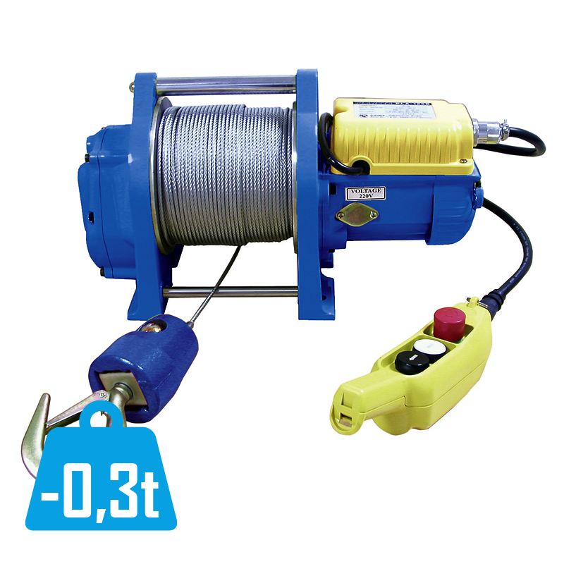 Electric rope winch PLA-B